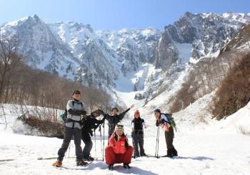 1日スノーシューツアー<br>一の倉沢コース