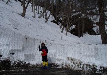 一の倉沢の残雪状況